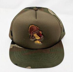 Vtg Winchester Turkey Hunting Camo Snap Back Hat
